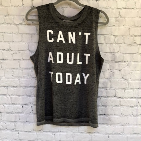 863f366ae71 Fifth Sun Can t Adult Today Black Tee Tank